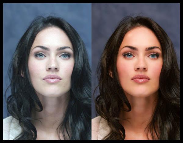 Megan Fox = Skin Color