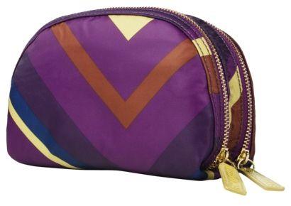 Sonia Kashuk Colorblock Cosmetic Bag - Double Zip Clutch