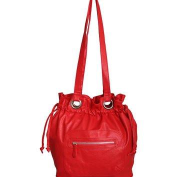 Drawstring Shoulder Handbag