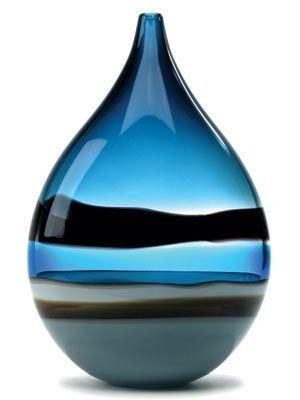 Blue Drop Vase