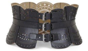 BCBG Scallop Cutout Corset Waist Belt