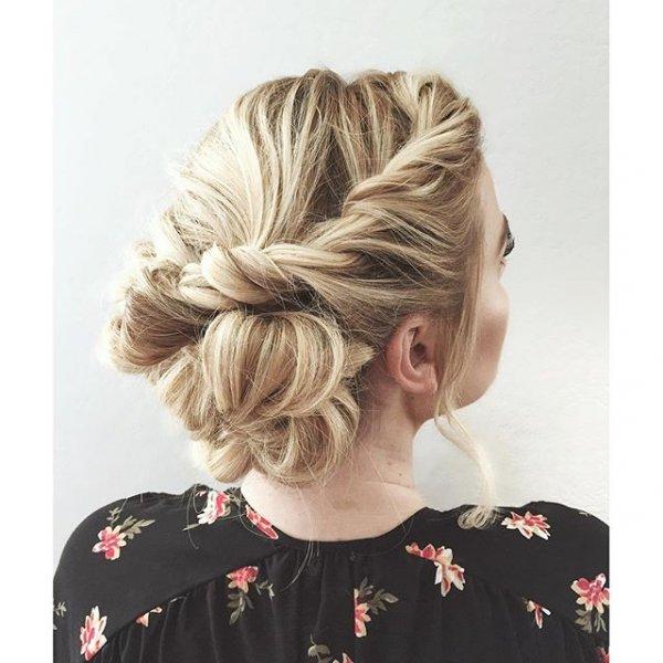 hair, hairstyle, head, chignon, bun,