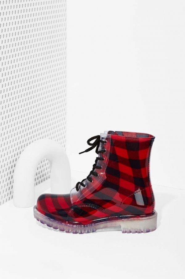 Roadie Combat Rain Boot - Plaid