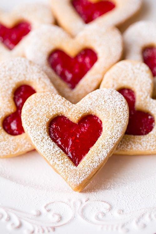 food,dish,dessert,heart,baked goods,