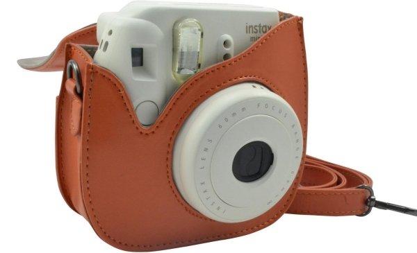 Katia Orange Leather Bag with Shoulder Strap