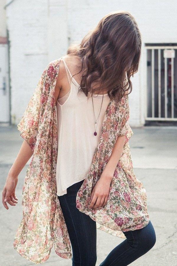 Feminine Kimono Top
