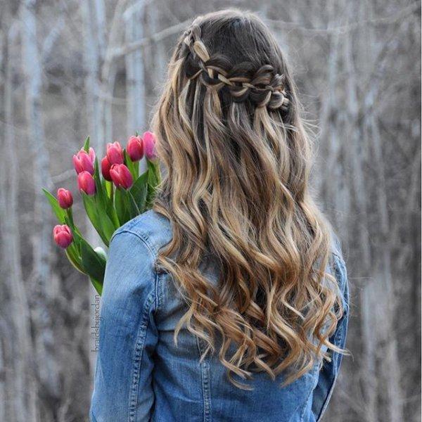 hair, hairstyle, long hair, girl, braid,