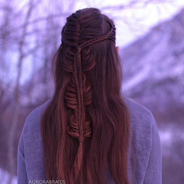hair, clothing, hairstyle, long hair, purple,