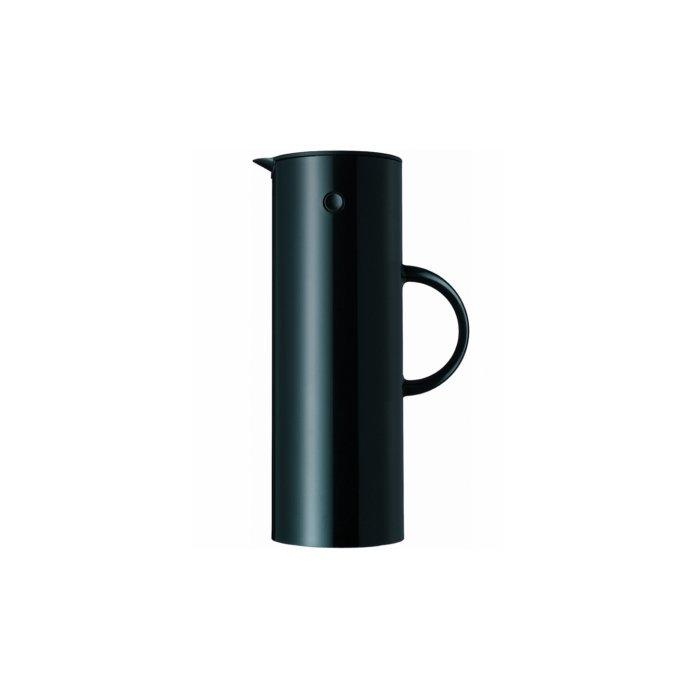 Stelton 1-Liter Vacuum Jug, Shiny Black
