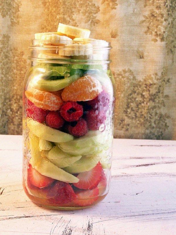 Fruitilicious Fruit Salad in a Jar