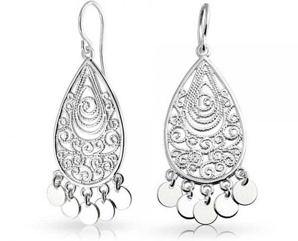 Boho Filigree Dangle Earrings
