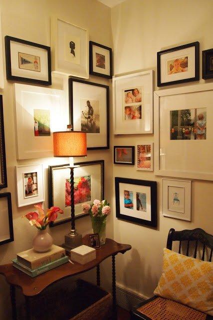 Corner Photo Wall