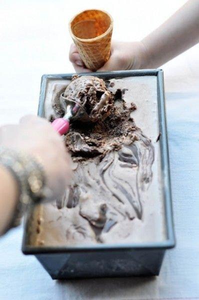 Crunchy Nutella Ice Cream