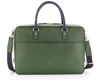 Salvatore Ferragamo Revival Laptop Case in Green