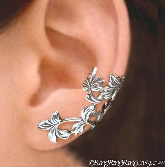 Sterling Silver Non-pierced Ear Cuff Earrings