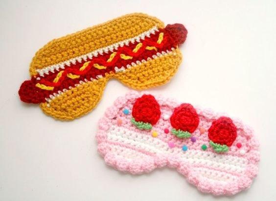 Crochet Food Eye Mask