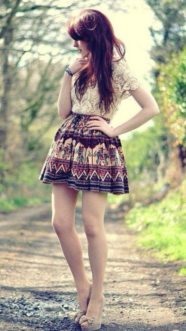 Wear High Waisted Skirts