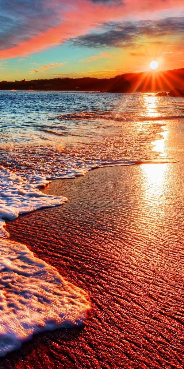 horizon, sky, shore, sea, sunrise,