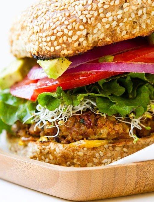 Spicy Vegan Chili Burgers