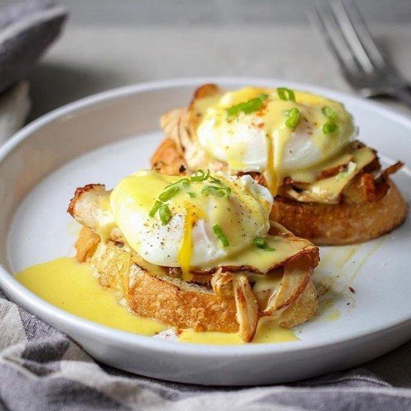 dish, food, eggs benedict, meal, breakfast,