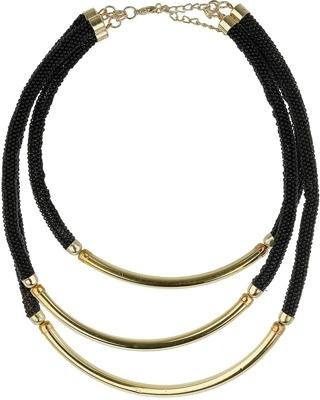 Topshop Metal Tube Necklace