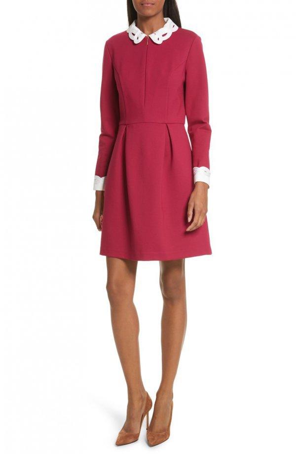 clothing, day dress, dress, coat, sleeve,