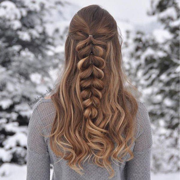 hair, hairstyle, long hair, brown hair, costume,