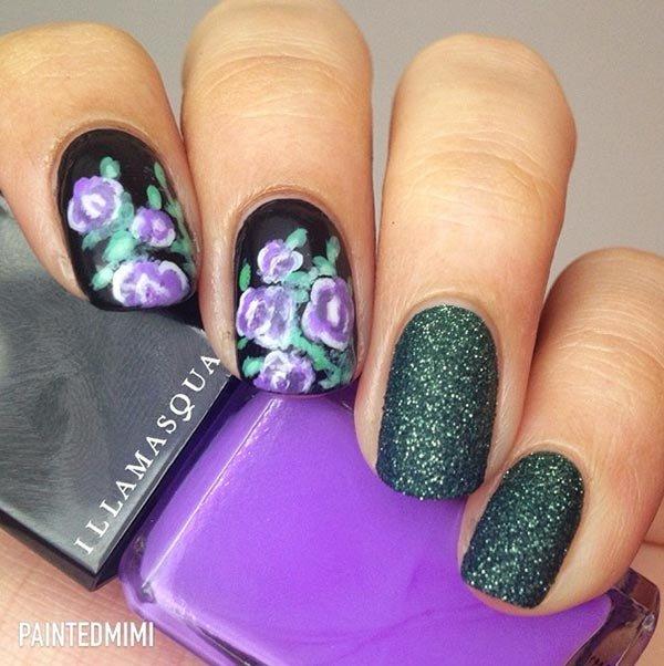 color, nail, finger, purple, green,