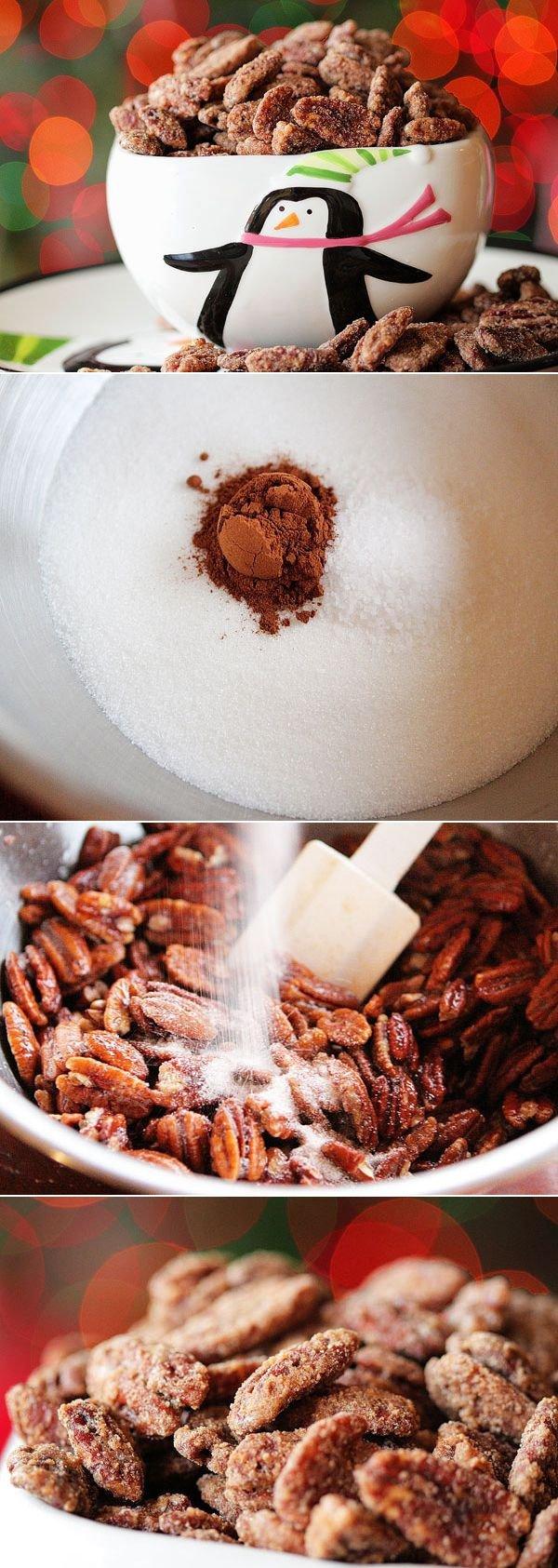 Cinnamon Sugar Roasted Pecans