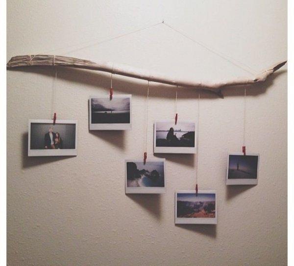 Driftwood Photo Hanger