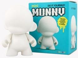 Mini Munny 4-Inch White Edition Vinyl Toy