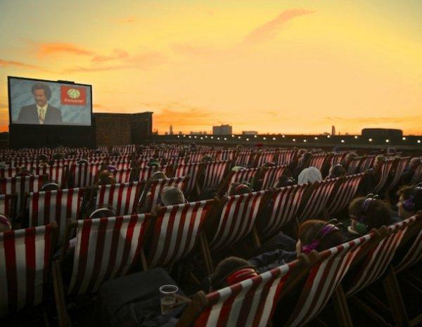 auditorium, sky, crowd, theatre, evening,