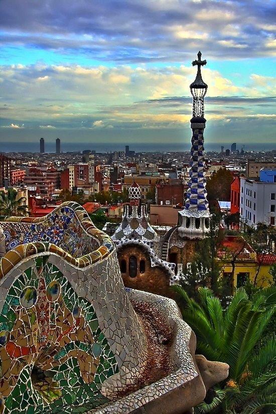 Park Güell,Barcelona,landmark,city,human settlement,