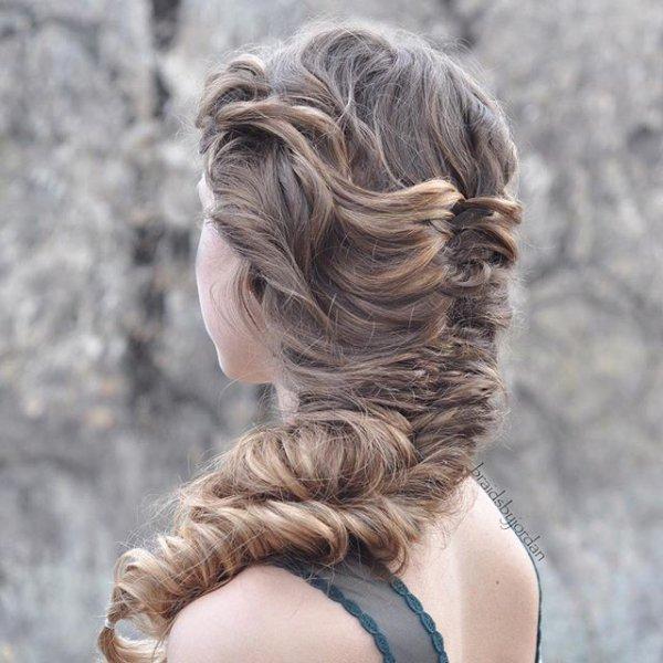 hair, hairstyle, blond, long hair, chignon,