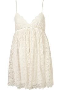 Ivory Lace Babydoll Slip