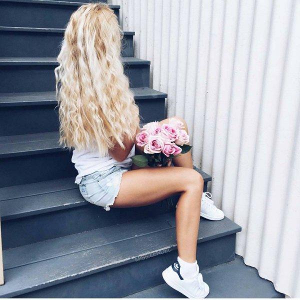 hair, human positions, sitting, footwear, blond,