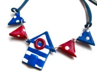 Beach Hut Necklace
