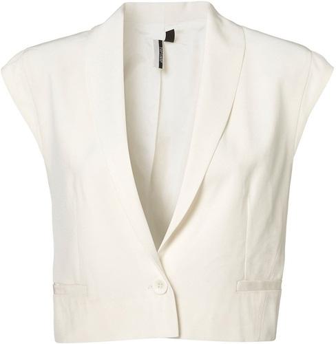 Topshop Premium Crop Sleeveless Blazer