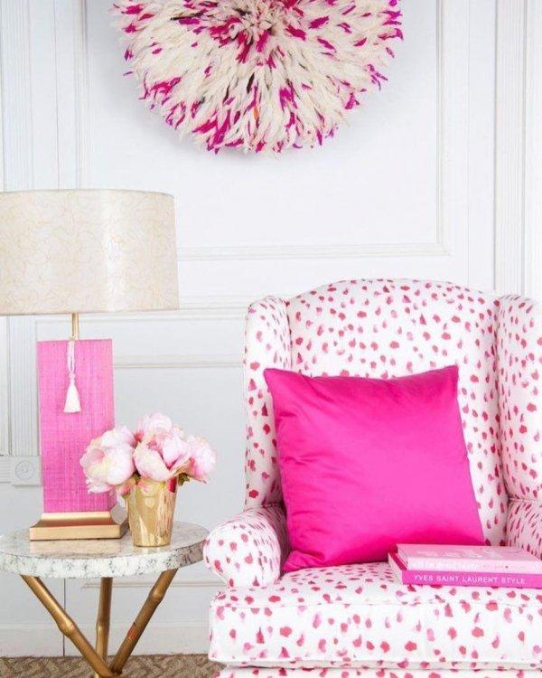 Pink, Furniture, Room, Interior design, Magenta,