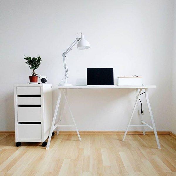 furniture, desk, floor, hardwood, wood,