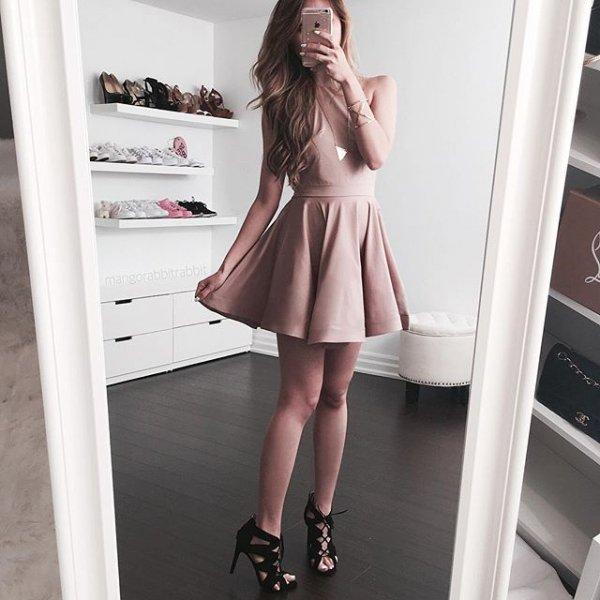 clothing, dress, cocktail dress, footwear, leg,
