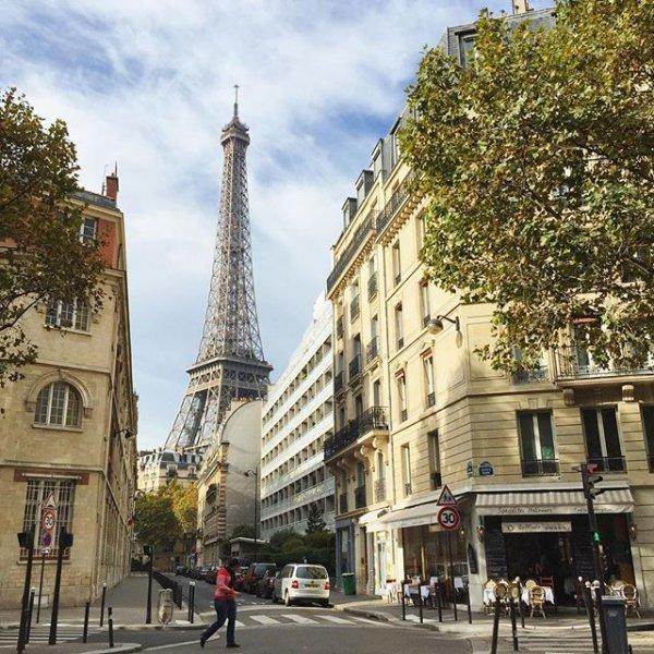Eiffel Tower, urban area, city, road, architecture,