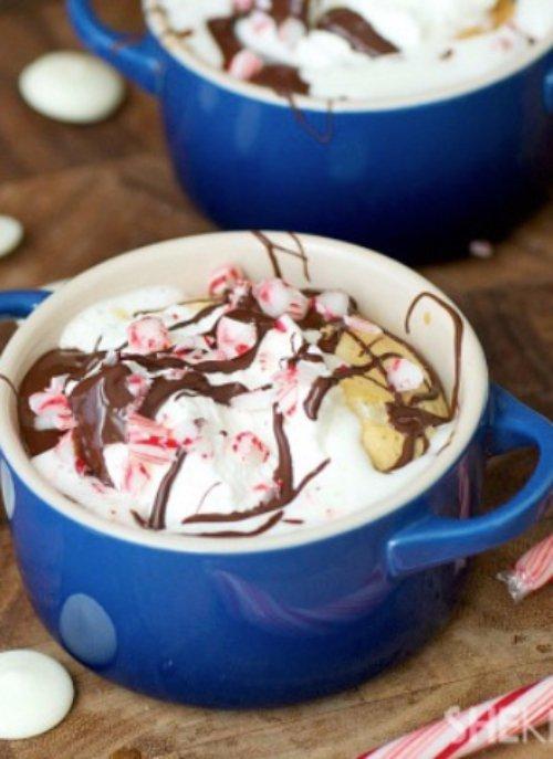 Peppermint White Chocolate Soufflé