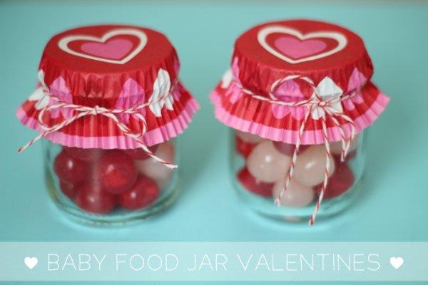 Baby Food Jar Valentines