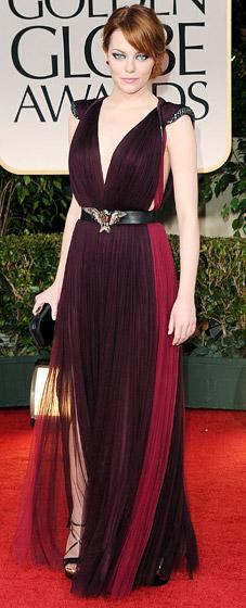 Topshop Purple Drape Dress (Emma Stone)