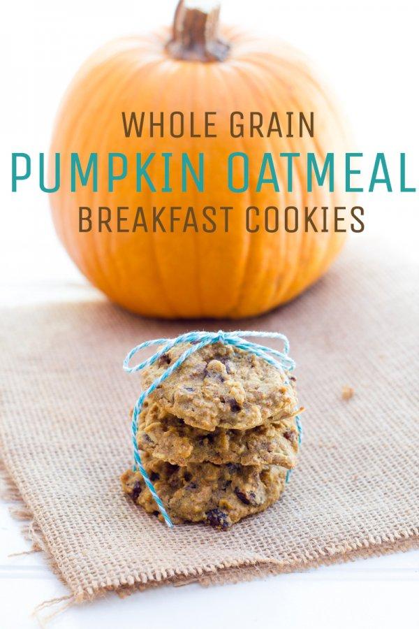 Pumpkin Spice Breakfast Cookies