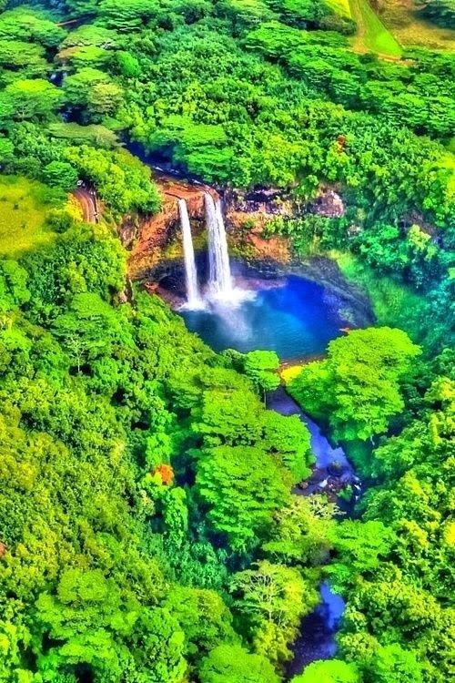 Wailua Falls, Kaua'i,