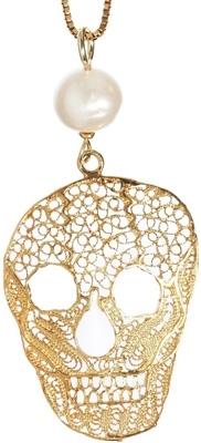 Iosselliani Filigree Skull Necklace