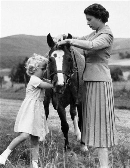 Princess Anne and Her Mother, Queen Elizabeth II