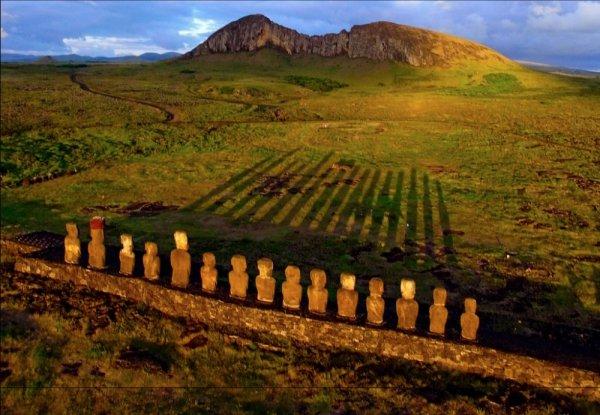 Moai, highland, agriculture, hill, plain,